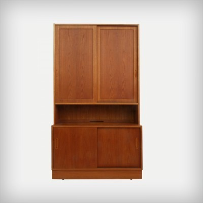 Danish Teak Wall Unit Or Bookcase by Carlo Jensen for Poul Hundevad, 1960s