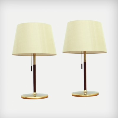 Set of 2 desk lamps from the sixties by unknown designer for Swiss Lamps International Zürich