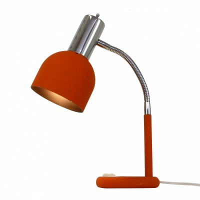 Quality Retro Orange Desk light from the seventies
