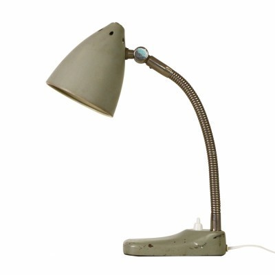 Early Hala Zeist desk light designed by H. Busquet in the fifties