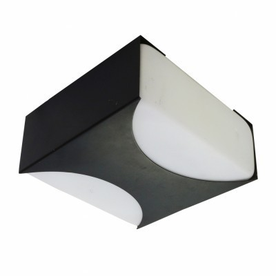 Quality Minimalistic Monochrome ceiling light called Ludiek produced by Raak Amsterdam in the sixties
