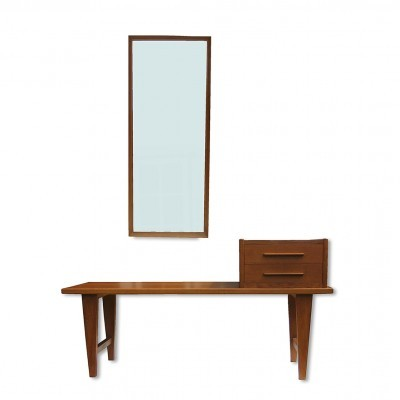 Hallway Furniture mirror from the fifties by unknown designer for unknown producer