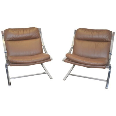 Set of 2 Zeta arm chairs from the sixties by Paul Tuttle for Strässle