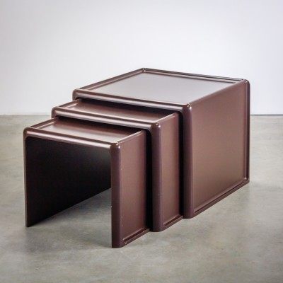 Set of 3 nesting tables by Peter Ghyczy for Horn Collection, 1970s