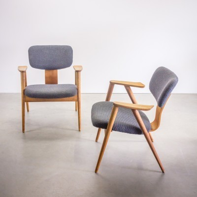 Set of 2 FB14 lounge chairs from the fifties by Cees Braakman for Pastoe