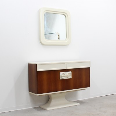 Console & Mirror from the fifties by unknown designer for unknown producer