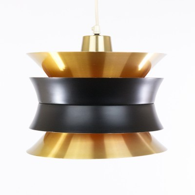 Brass coloured Trava pendant by Carl Thore for Granhaga, 1960s