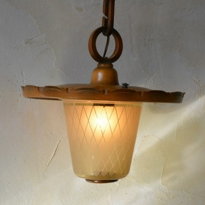 Hanging lamp from the forties by unknown designer for unknown producer