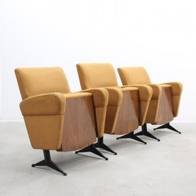 3 Cinema lounge chairs from the fifties by unknown designer for unknown producer