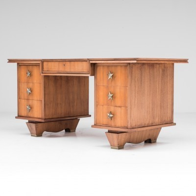 Art Deco writing desk from the forties by unknown designer for unknown producer