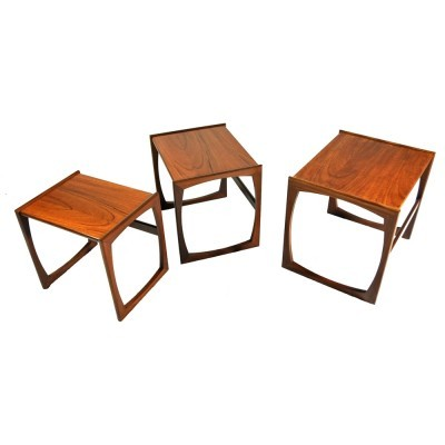 Quadrille nesting table from the sixties by unknown designer for G plan