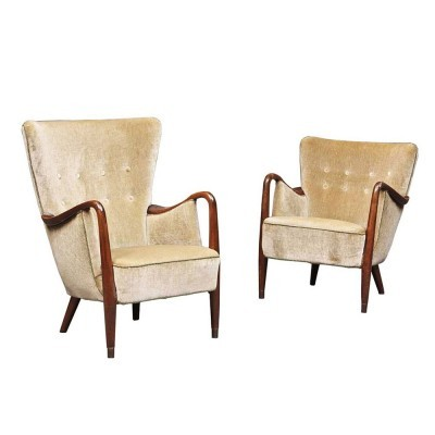 Set of 2 lounge chairs from the fifties by unknown designer for Slagelse Møbelværk