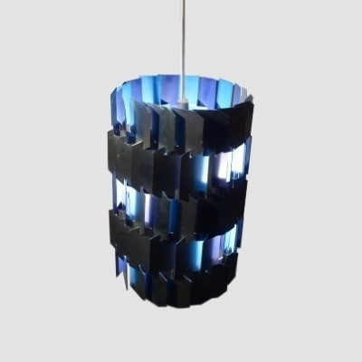 Facet hanging lamp from the sixties by Louis Weisdorf for Lyfa