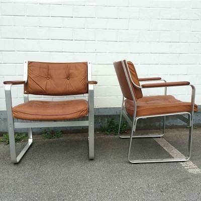 Set of 2 Mondo lounge chairs from the sixties by Karl Erik Ekselius for JOC Vetlanda