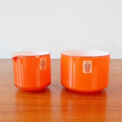 Sugar Pot & Creamer by Michael Bang for Holmegaard, 1970s
