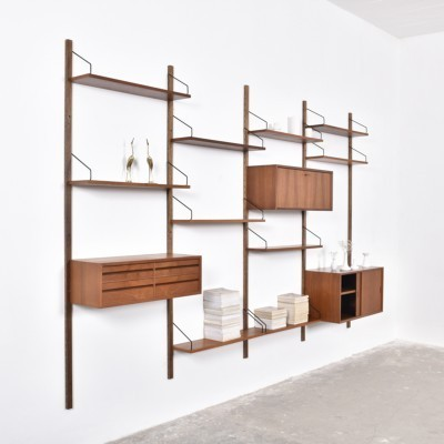 Wall unit from the fifties by Poul Cadovius for unknown producer