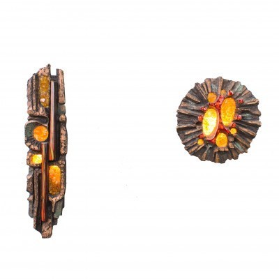 Set of 2 wall lamps from the sixties by Ars Munda for Ars Munda