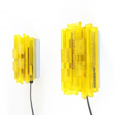Pair of NO. 1002 wall lamps by Claus Bolby for CEBO Industri, 1960s