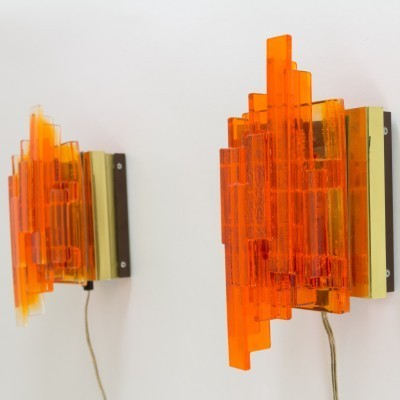 Set of 2 wall lamps from the seventies by Claus Bolby for CEBO Industri