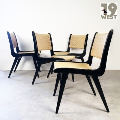 Set of 4 Domus lounge chairs from the fifties by Hans Bellmann for Domus
