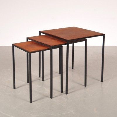 Set of 3 nesting tables from the fifties by Cees Braakman for Pastoe
