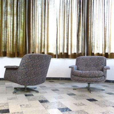 Set of 2 lounge chairs from the sixties by unknown designer for Eugen Schmidt Soloform