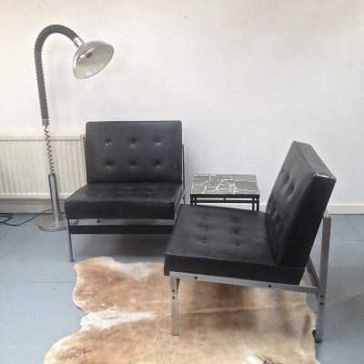 Set of 2 lounge chairs from the fifties by Kho Liang Ie for Artifort