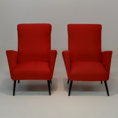 Set of 2 lounge chairs from the fifties by unknown designer for unknown producer
