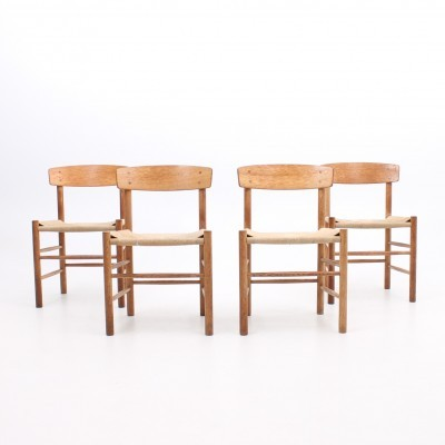 Set of 4 J39 dinner chairs from the sixties by Børge Mogensen for Fredericia