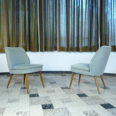 Pair of Wilhelm Knoll lounge chairs, 1950s