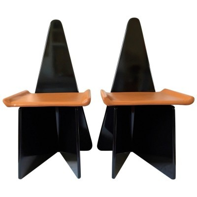 Pair of Napoleone dinner chairs by Claudio Salocchi for Sormani, 1970s
