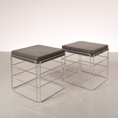 Set of 2 stools from the sixties by Max Sauze for Max Sauze Studio