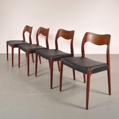 4 dinner chairs from the fifties by Niels Otto Møller for Moller