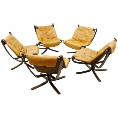 5 Falcon lounge chairs from the sixties by Sigurd Resell for Vatne Møbler