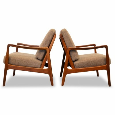 Set of 2 lounge chairs from the fifties by Ole Wanscher for France & Son