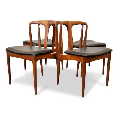 Set of 4 dinner chairs from the fifties by Johannes Andersen for Uldum Møbelfabrik
