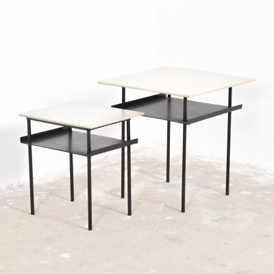 Set of 2 side tables from the fifties by Wim Rietveld for Auping