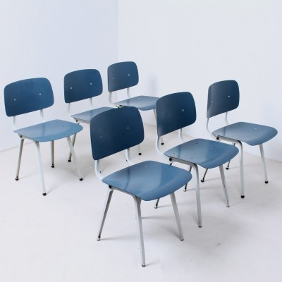 Set of 6 Revolt dinner chairs from the fifties by Friso Kramer for Ahrend de Cirkel