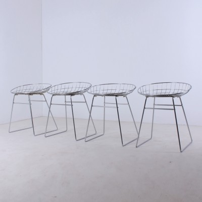 Set of 4 Km05 stools from the fifties by Cees Braakman for Pastoe