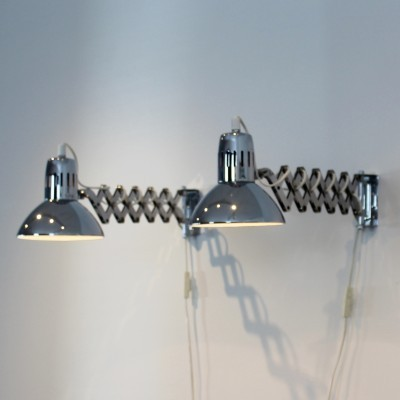 Set of 2 wall lamps from the sixties by unknown designer for unknown producer