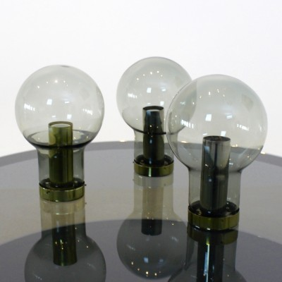 3 Raak Maxi Globe ceiling lamps from the sixties by unknown designer for Raak Amsterdam
