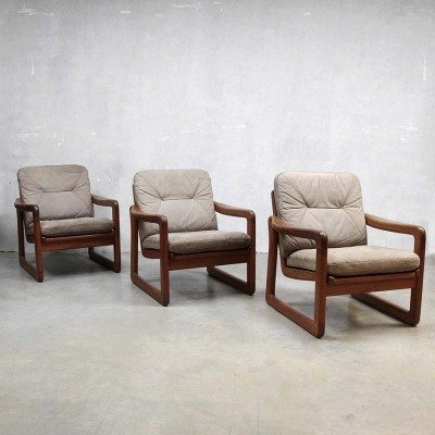 3 x vintage lounge chair, 1950s
