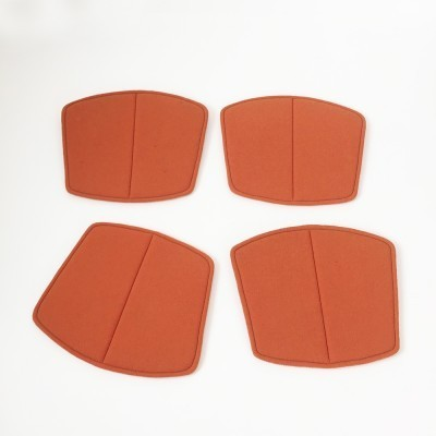 Orange Seatpads from the sixties by Harry Bertoia for Knoll International