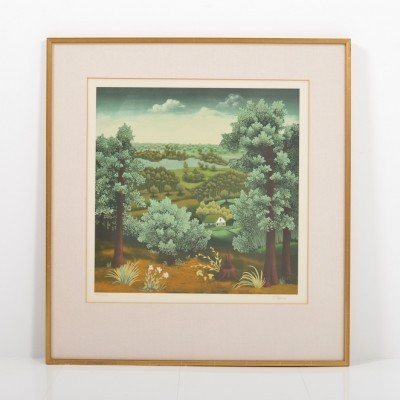 Landscape art from the fifties by Ivan Generalic for Ivan Generalic