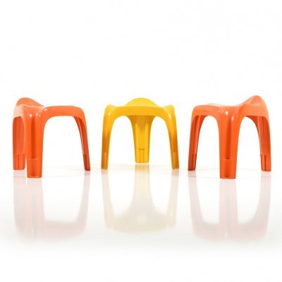 Set of 3 Casalino stools from the seventies by Alexander Begge for Casala