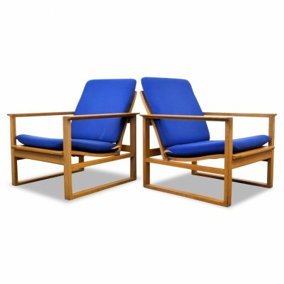 Pair of Modell 2256 lounge chairs by Børge Mogensen for Fredericia Stolefabrik, 1950s