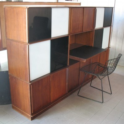 Writing Desk cabinet from the fifties by Didier Rozaffy for unknown producer