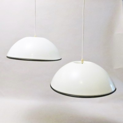 Pair of Relemme hanging lamps by Achille Giacomo Castiglioni for Flos, 1960s