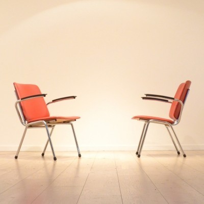 Set of 2 arm chairs from the sixties by unknown designer for Gispen
