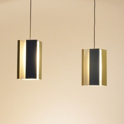 Set of 2 hanging lamps from the fifties by unknown designer for Anvia Almelo